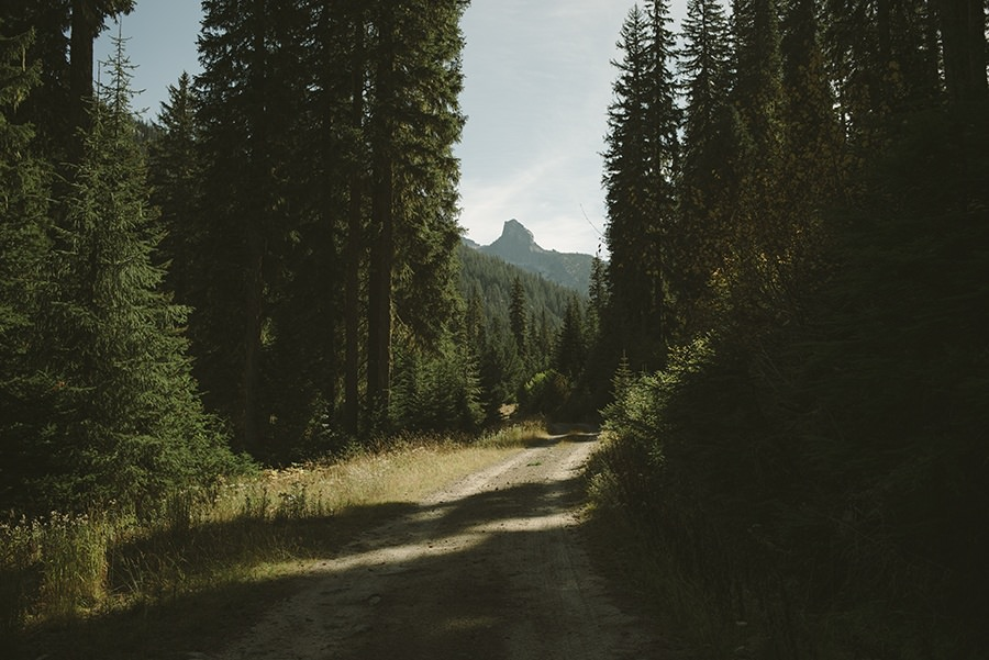 The Road to Lions Head, Priest Lake Idaho.