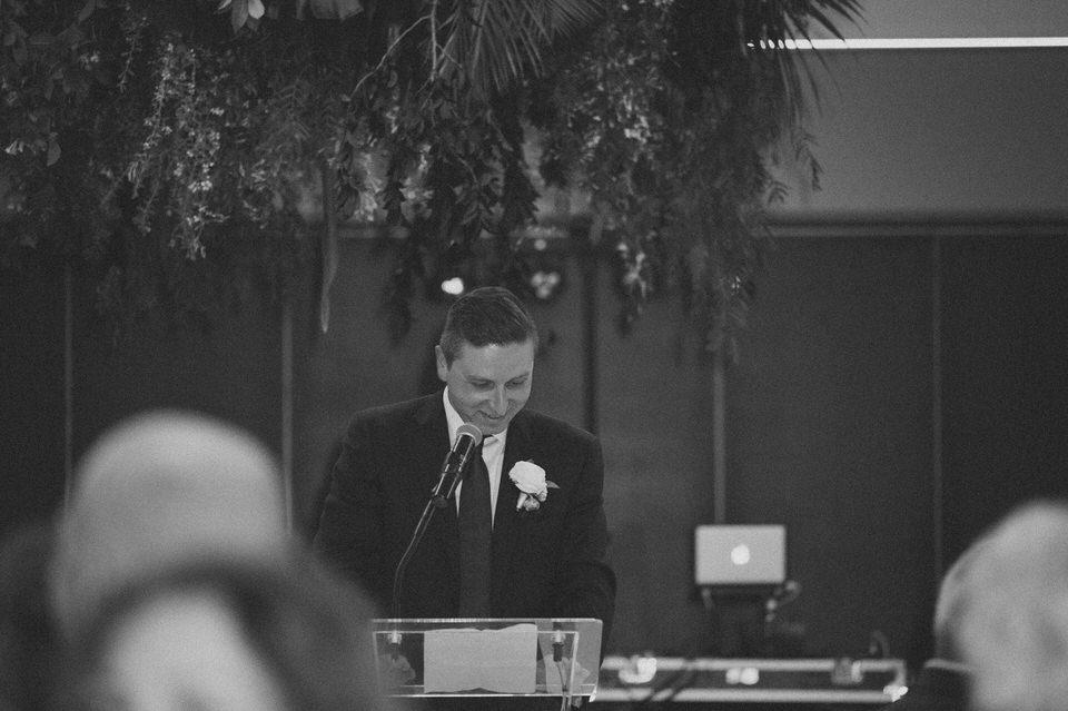 Man Speaks At Wedding