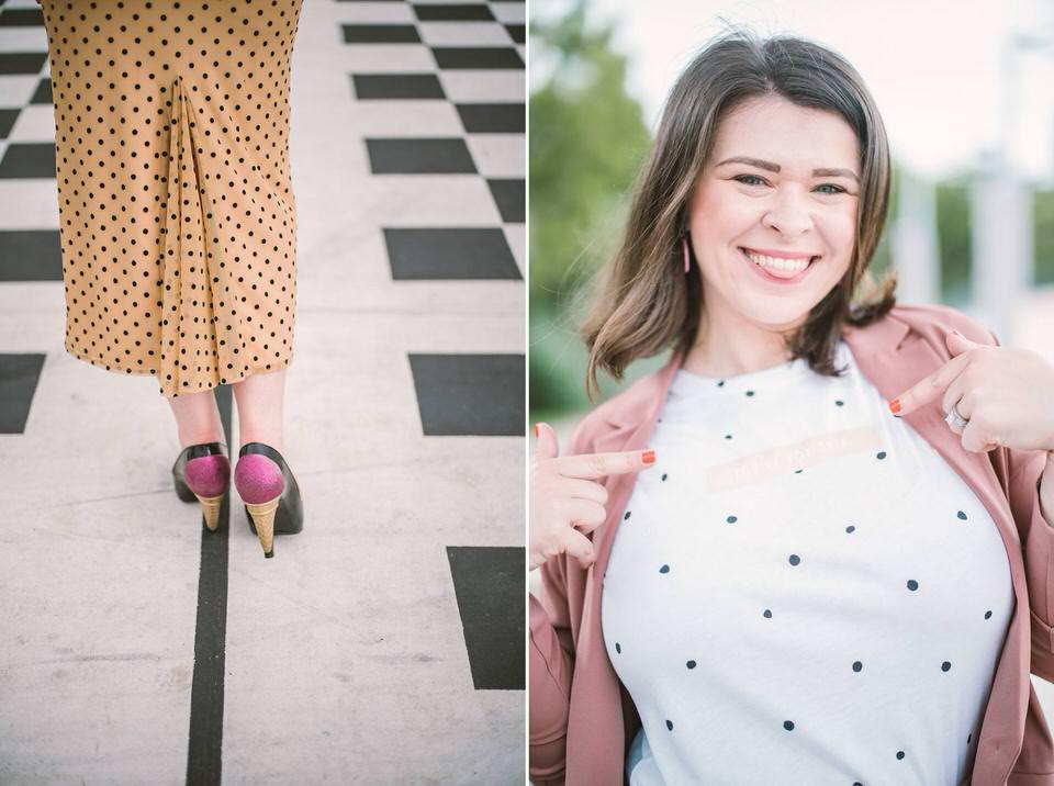 Woman Wears Ruby Slippers