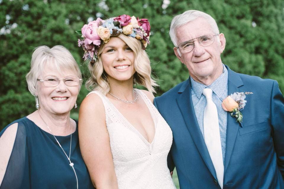 Bride Dyani and Parents