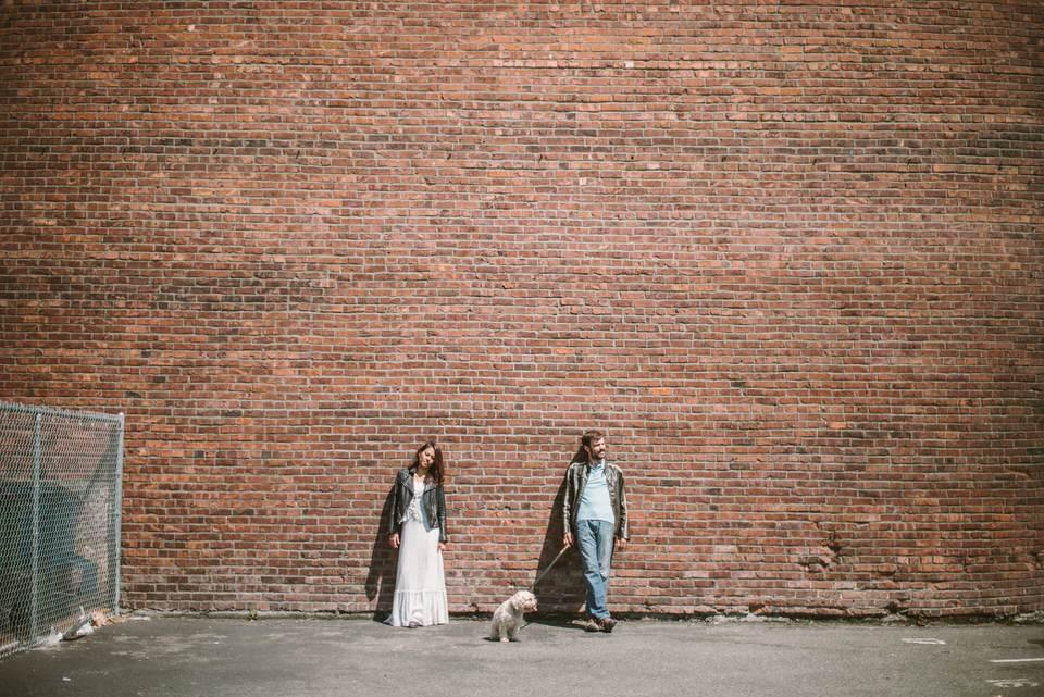 Bride & Groom Brick Wall