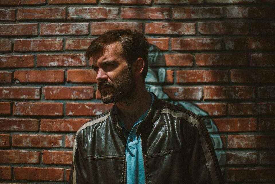 Man photo brick wall